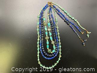 Gemstone Necklace Lot D