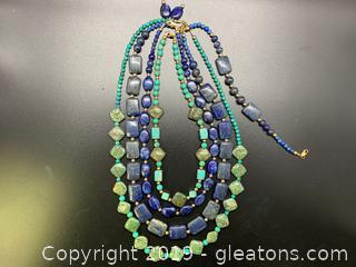 Gemstone Necklace Lot E