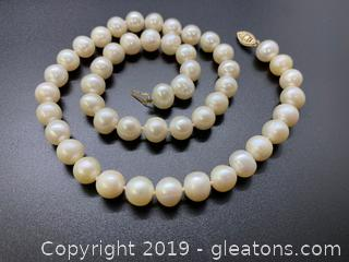 10mm Pearls  14k Stamped Clasp