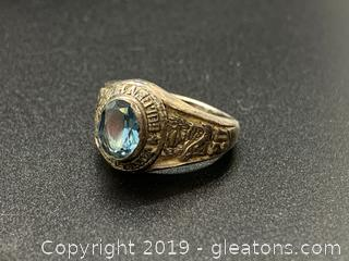 Silver Class Ring