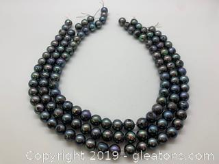 Three Freshwater Pearl Strands