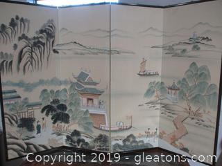 Japanese 4 Panel Screen