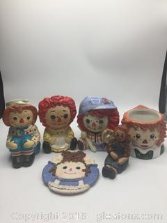 Vintage Raggedy Ann & Andy Porcelain Lot