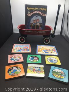 Mini Radio Flyer Wagon with Kaggedy Ann and Andy Children's Book