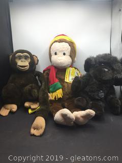 Toy Plush Monkeys