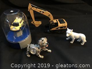 Mixed lot metal Dalmatian watch dog