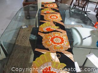 Beautiful Orange ,Gold and Black Table Runner