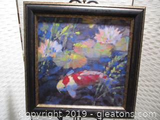 """""""Water Garden"""" Painting Signed"""