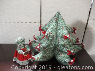 Handmade Christmas Tree+Mouse