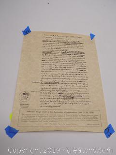 Copy of Jeffersons Rough Draft of the Deliaration of Independence