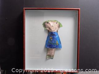 Vintage Paper Doll in Shadow Box