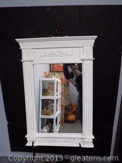 Small White Hanging Mirror
