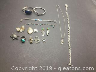 Silver and Gemstone Lot