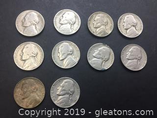 Jefferson War Head Nickels *Not Mint*