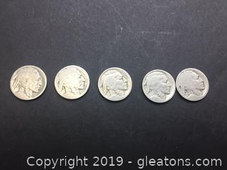Buffalo Nickel Lot A