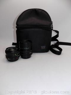 Vintage Canon Lenses with TEK Camera Bag