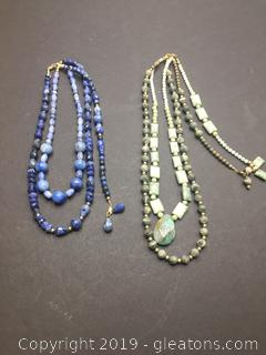 Gemstone Necklace Lot S