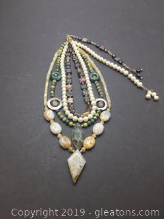 Gemstone Necklace Lot P