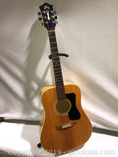 1978 Guild Acoustic Guitar with in Laid Pearl