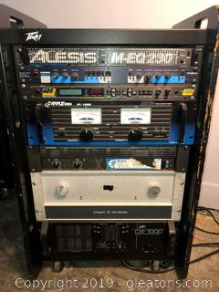 wow! includes crown pc 300, Mackie Fr series amplifier, Peavy cs 1000 sterio amplifier, Alesis m-eq dual 1/3 octave 230, 21 Legend Guitar signal processor, Pyle Pro Pt 1600