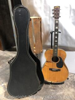 Acoustical Guitar Made by SS Stewart for Parts