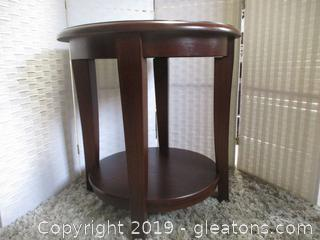 2 Tier Cherry Accent Table