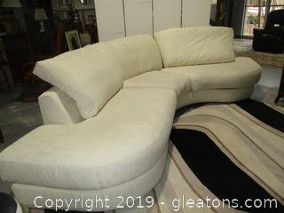 Thayer Coggin Curved Sectional Sofa
