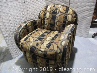 Gold + Black Swivel Chair B by Custom Crafted
