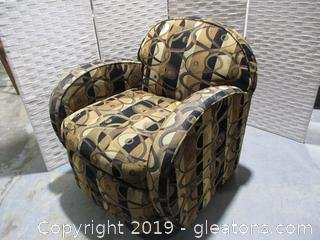 Gold and Black Swivel Chair C by Custom Crafted