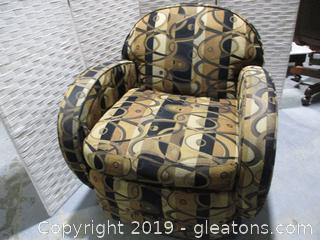 Gold + Black Swivel Chair D by Custom Crafted