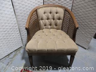 Mid Century Queen Style Rattan Chair
