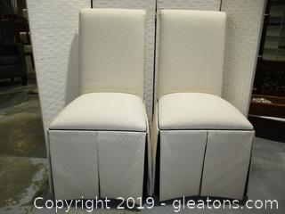 Set of 2 Rolled Back Parson Dining Room Chairs (A)