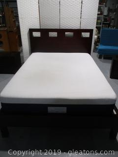 Full Size Contemporary Dark Cherry Bed