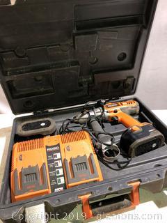 Ridgid Drill + Battery