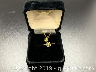 Child's Peridot and Diamond Set