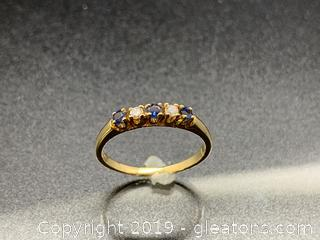 Diamond and Sapphire 14k Ring
