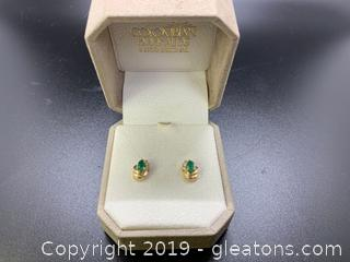 Columbian Emerald Earrings 14K CET