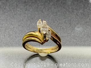 Diamond and 14k Women's Ring Estate Vintage