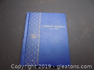 Liberty Nickels Whitman Collectors Book 1883 – 1912