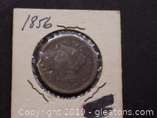1856 Large One Cent Coin