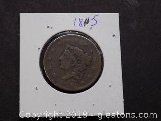 Braided Hair Liberty Head large Cent 1835
