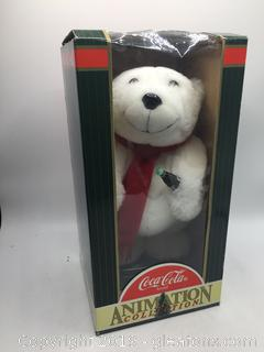 Rare 1999 Christmas Coca-Cola Animated Plush Beat