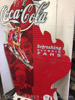Vintage Olympic Winter 1998 Coca-Cola Card Board Cut Out