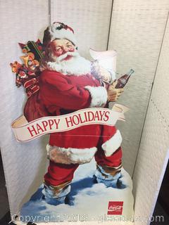 "1992 Coca-Cola ""Happy Holidays"" Santa Clause Cut Out"