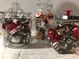 Glass Storage Con with Cookie Cut