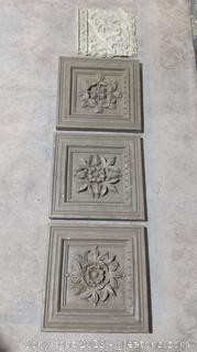 4 Decorative Wall Plaques