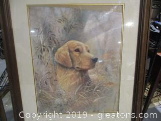 Beautiful Signed dog Portrait