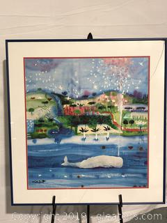 Signed Water Color Print by Artisan Niki Smith
