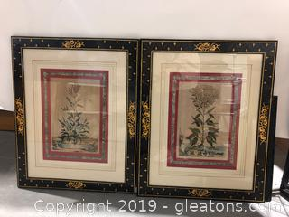 Beautiful Pair of of Wall Art in Accented Frame