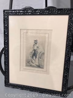 Framed Wall Art of Sketch by Artisan Hibert